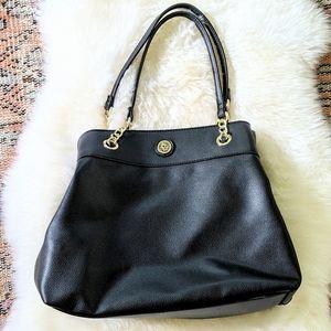 NWOT Black Leather Shoulder Bag by Anne Klein